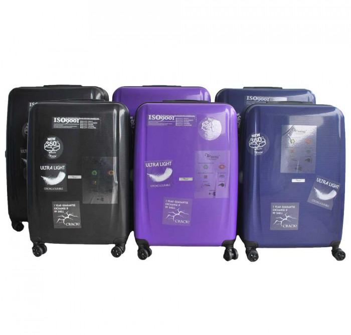 Micro-Diamond Heavy Duty ABS + Polypropylene Luggage (Scratch Resistant)
