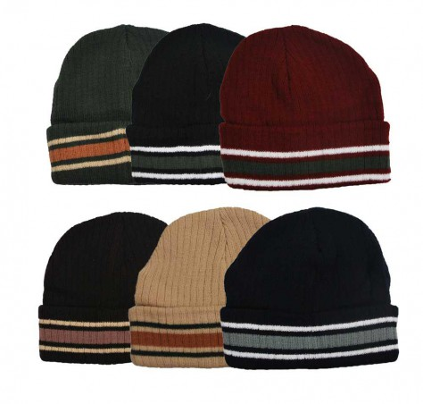Winning Unisex Striped Lined Beanie (#89089)