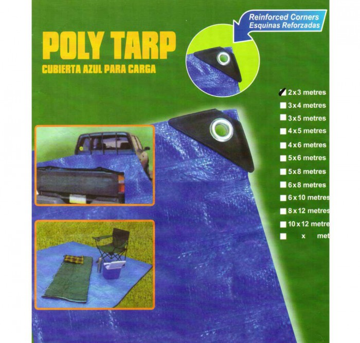 Poly Tarp 2x3 Metres (Waterproof/UV resistant)