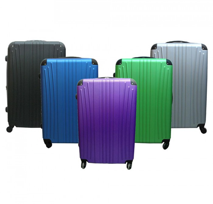 Ferrous ABS expandable luggage with TSA Lock