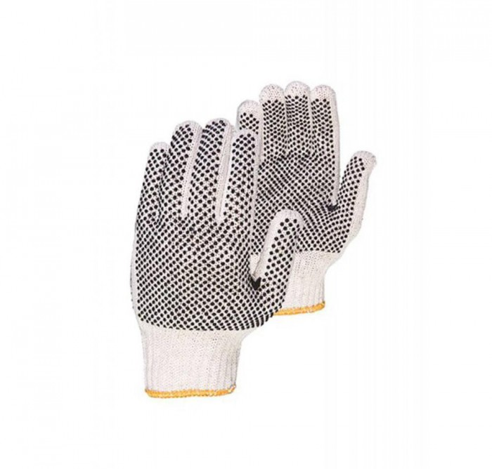 Grip 7-gauge PVC-dotted Cotton Knit Working Gloves