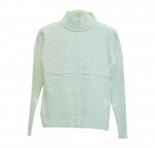 Classic Crystal White Winter Sweater