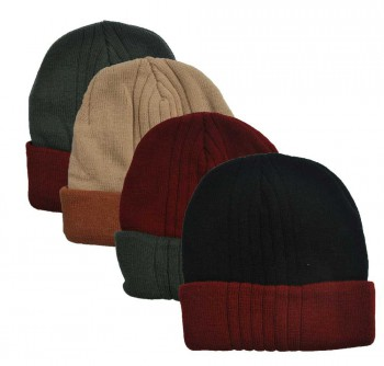 Winning Unisex Side Swipe Lined Beanie (#88616)