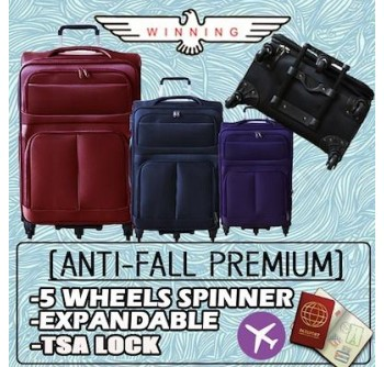 Anti-Fall Premium 5 Wheels 360° Expandable Spinner