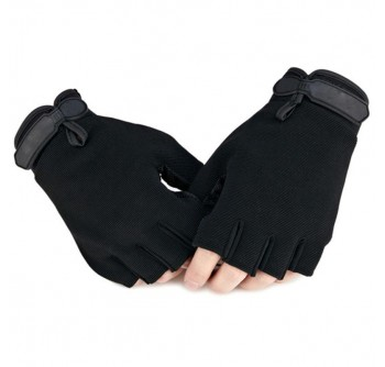 Black Tactical Half Gloves