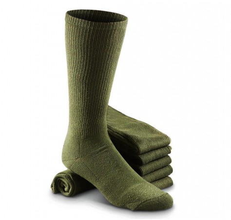Anti-Odor Military Boot Green Socks