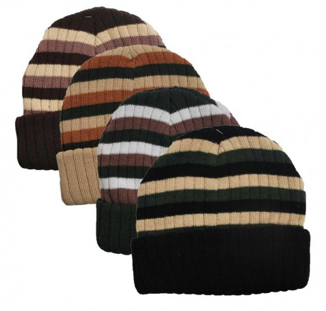 Winning Unisex Highline Striped Beanie (#89090)