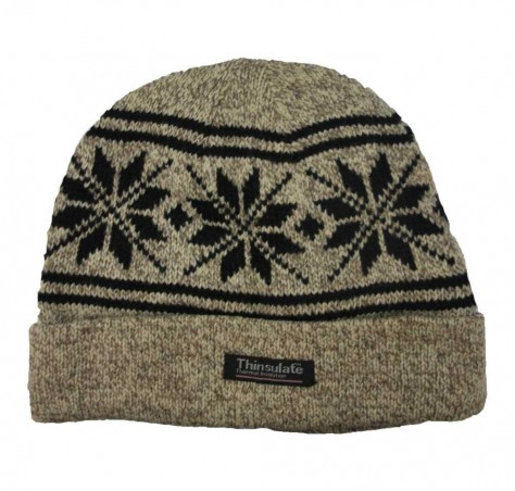 Thinsulate Crystal Snow Design Beanie (Unisex)